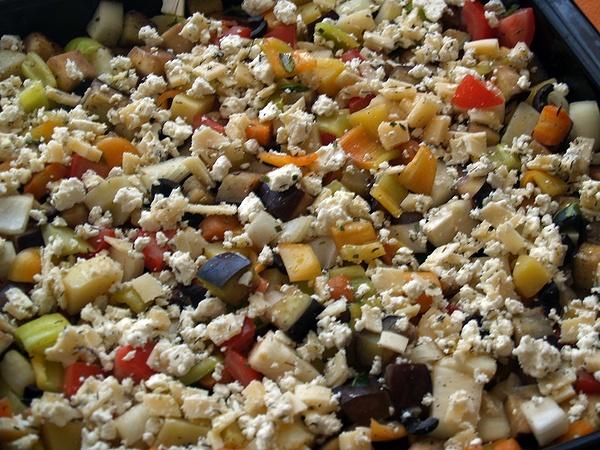Zeleninová směs připravená na zapékání